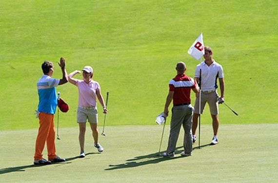 Golfen mit den Profis