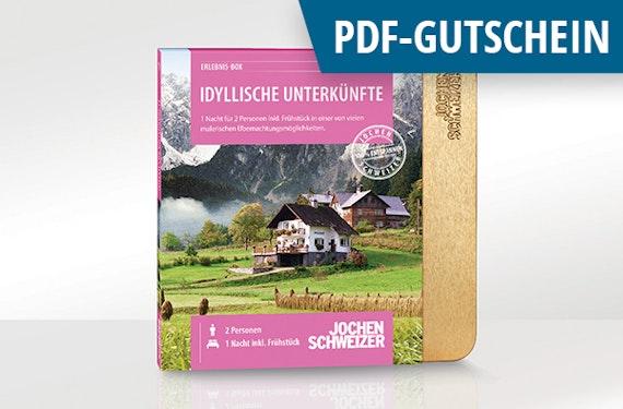 Erlebnis-Box 'Idyllische Unterkünfte für 2' als PDF