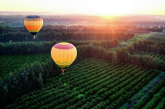 Ballonfahrt in den Sonnenaufgang im Thurgau