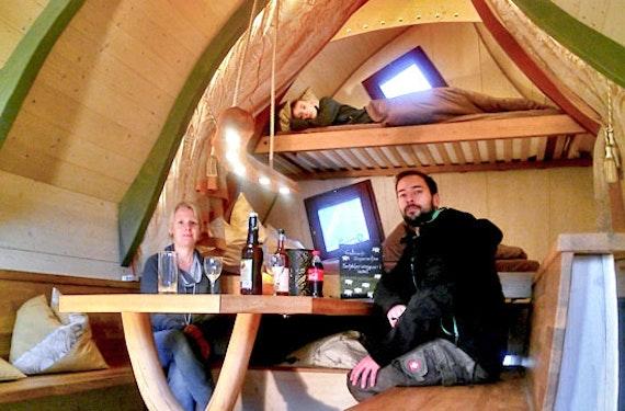 Nacht im Elfen-Baumhaus in der Rhön für 2