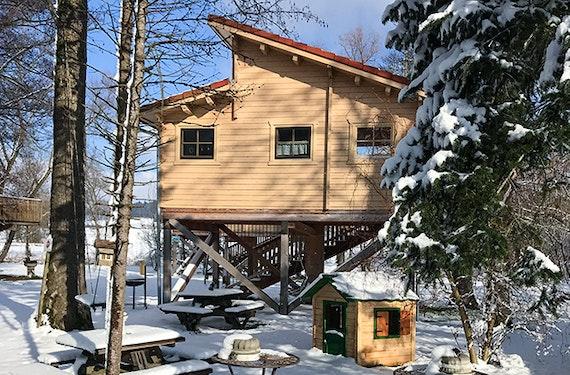 Übernachtung im Baumhaus in Kammeltal für 2