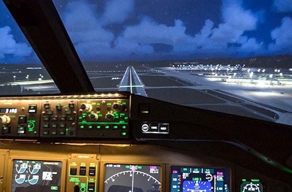 Flugsimulator Boeing 777 in Zürich  (60 Min)