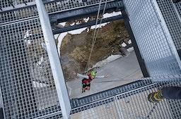 Bungee Jumping am Schlegeis-Stausee