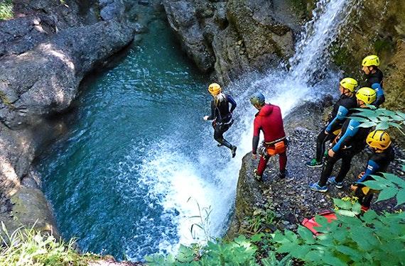 Canyoning -Tour im Kleinwalsertal