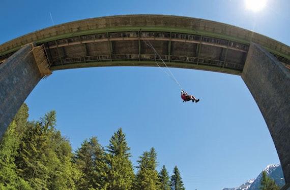 Canyoning & Mega Swing im Ötztal