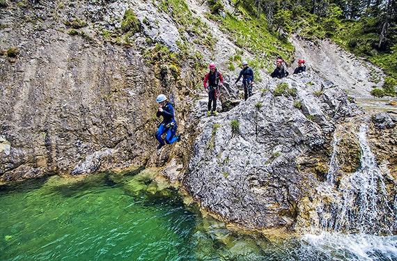 Canyoning Reutte für Einsteiger (4 Std.)