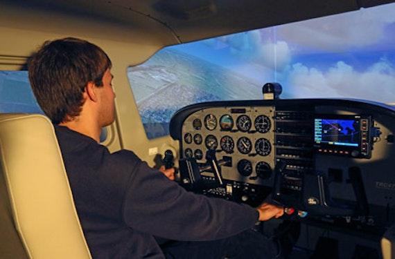 Full-Motion Cessna 172 Flugsimulator bei Bremen