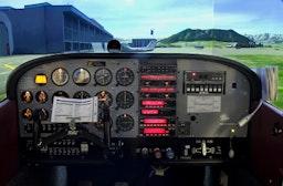 Cessna Flug im Flugsimulator