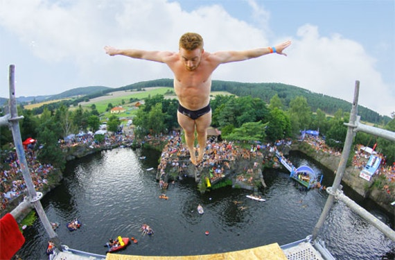 Cliff-Diving Training in Tirol