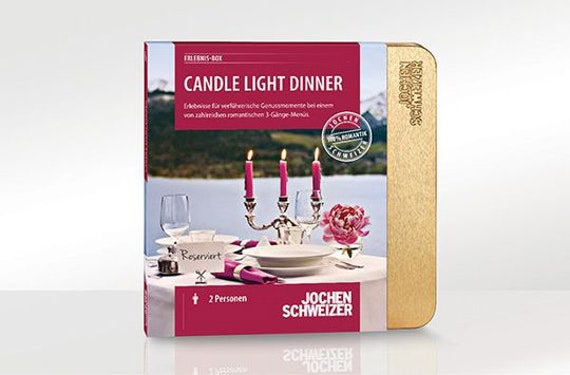 Erlebnis-Box 'Candle-Light-Dinner für 2'