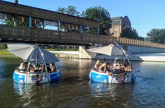 Elektroboot fahren in Graz