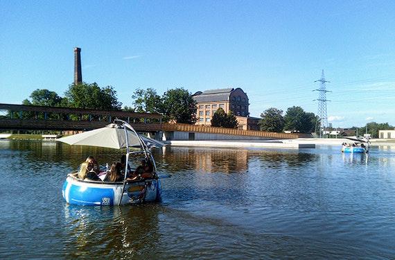 Elektroboot fahren & Cocktailparty Graz