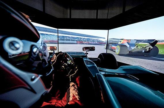 Formel 1 Rennsimulator in Berlin (30 Min.)