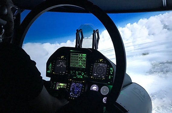 Kampfjet-Flugsimulator F A-18 Super Hornet Raum Leipzig