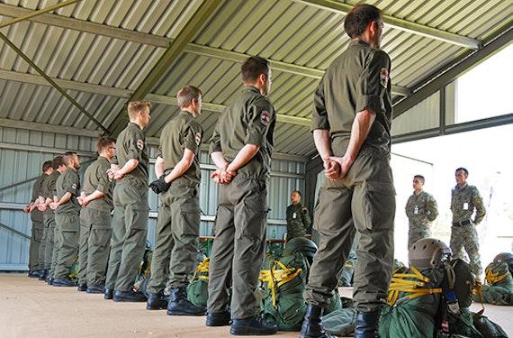 Militär-Fallschirmbasiskurs (4 Tage)