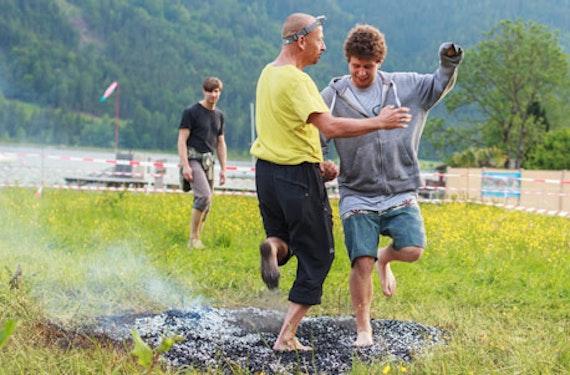 Feuerlauf-Seminar in Tirol