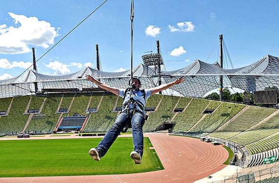 Flying Fox im Olympiastadion München