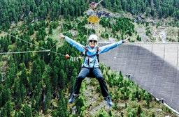 Flying Fox am Schlegeis-Stausee im Zillertal