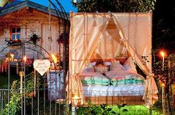 Übernachtung im Garten-Himmelbett Raum St. Johann für 2