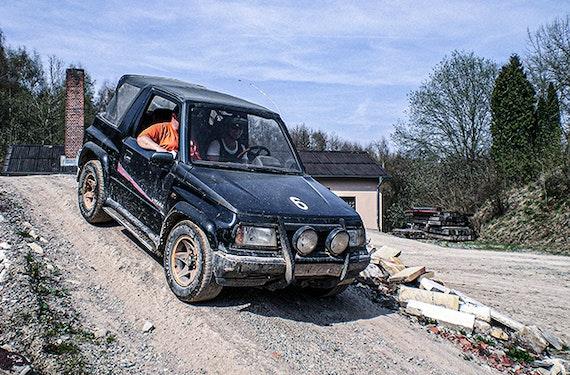 Geländewagen offroad fahren in Großalmerode