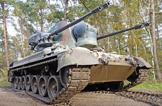 Gepard Flakpanzer fahren bei Osnabrück