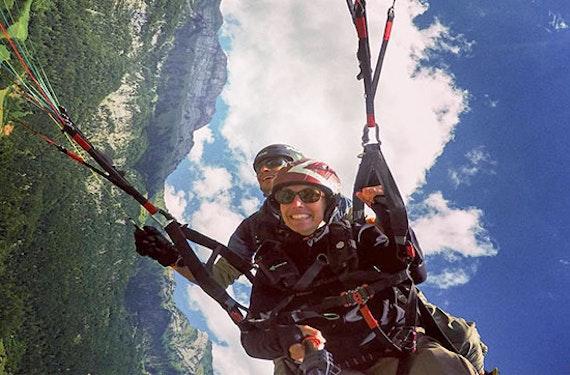 Gleitschirm Tandemflug mit Akrobatik-Manöver