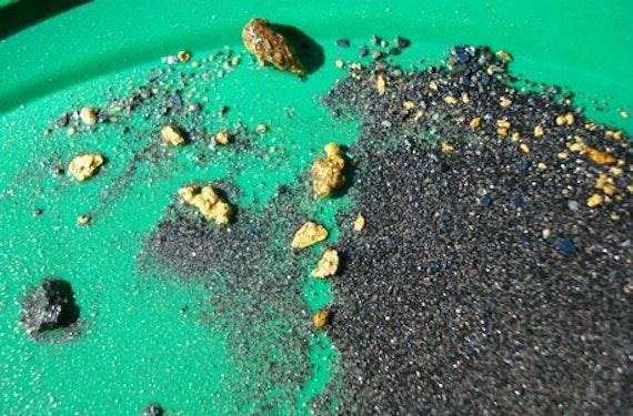 Goldwaschen an der Rheinquelle