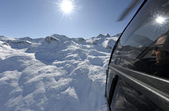 Helikopterflug mit Alpenpanorama