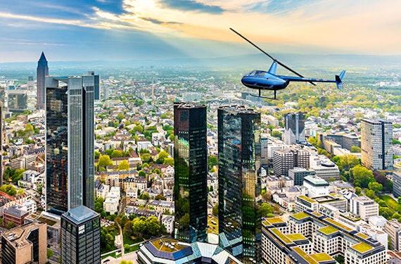 Hubschrauber-Rundflug über Frankfurt