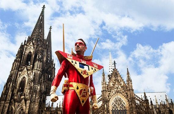 Jecke Stadtführung durch Köln für 2