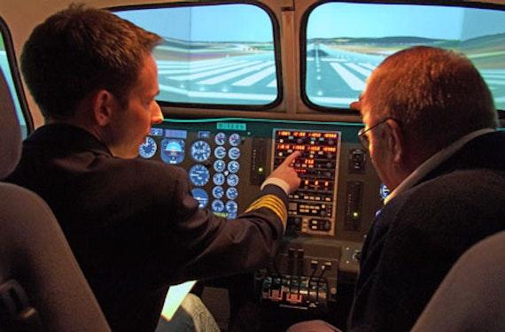Flugsimulator King Air 200 in Stuttgart