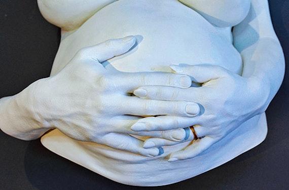 Skulptur vom eigenen Körper