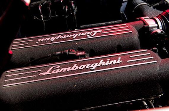 Lamborghini Renntaxi auf dem Lausitzring