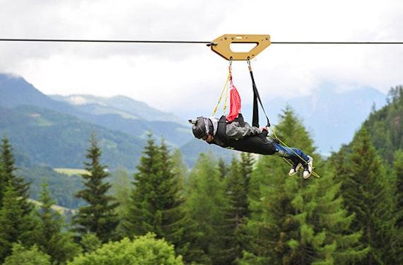 Kurzurlaub mit Flying Fox XXL in Leogang für 2