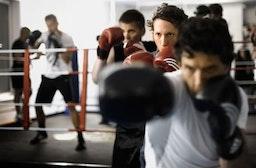 Boxen mit Personal-Trainer