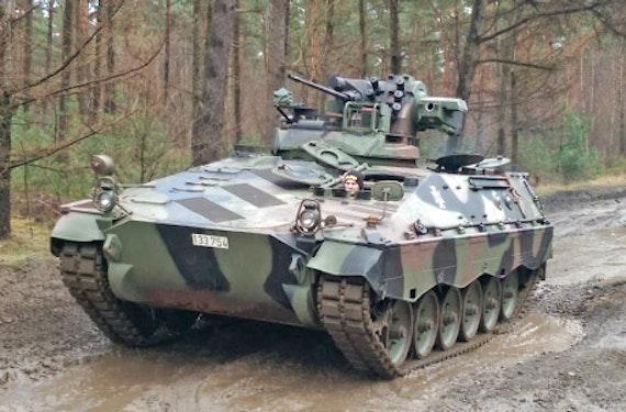 Schützenpanzer Marder fahren bei Osnabrück
