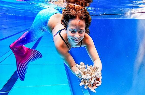 Meerjungfrauen Schwimmen Kinder und Erwachsene