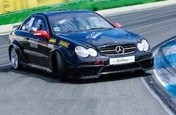 Mercedes CLK 63 DTM Drift-Taxi am Hockenheimring Mercedes Arena