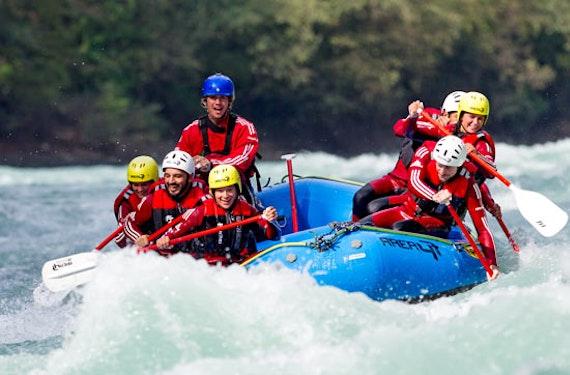 Wildwasser-Rafting im 3er-Boot im Ötztal