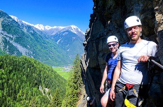 Klettersteig Tour am Lehnerwasserfall Sautens