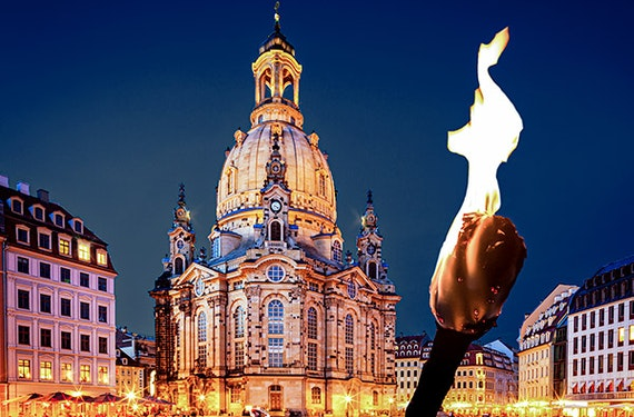 Candle Light Dinner & Nachtwächtertour Dresden für 2