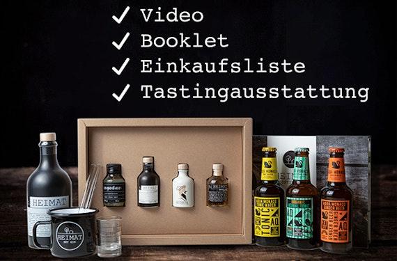 Online Gin Tasting mit Tastingbox (60 Min.)