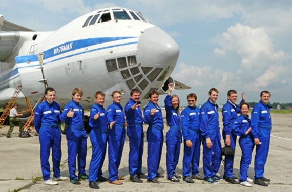 Parabelflug in der IIjuschin II-76 bei Moskau