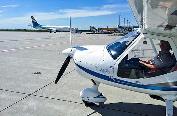 Parabelflug im Ultraleichtflugzeug
