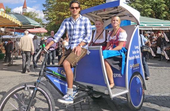 Rikscha-Tour durch München für 2 (30 Minuten)