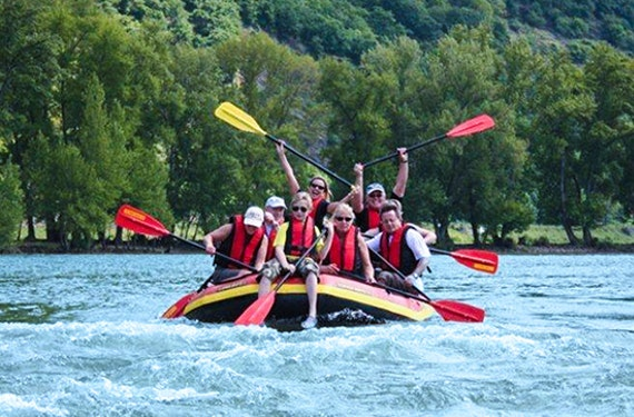 River Rafting auf dem Rhein bei Rüdesheim