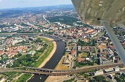 Rundflug im Ultraleichtflugzeug über Sachsen