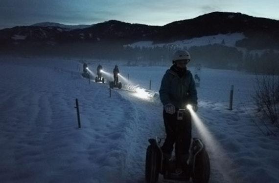 Segway-Nachttour im Winter mit Fondue