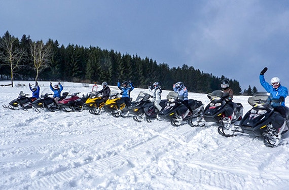 Schneemobil-Tour im Mühlviertel