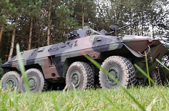 Spähpanzer Luchs fahren bei Osnabrück